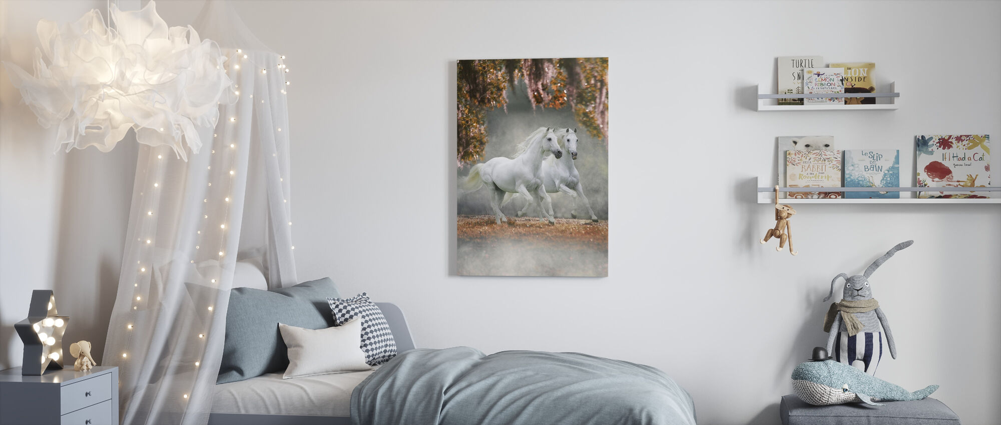 Enchanted Horses - Canvas print - Kids Room