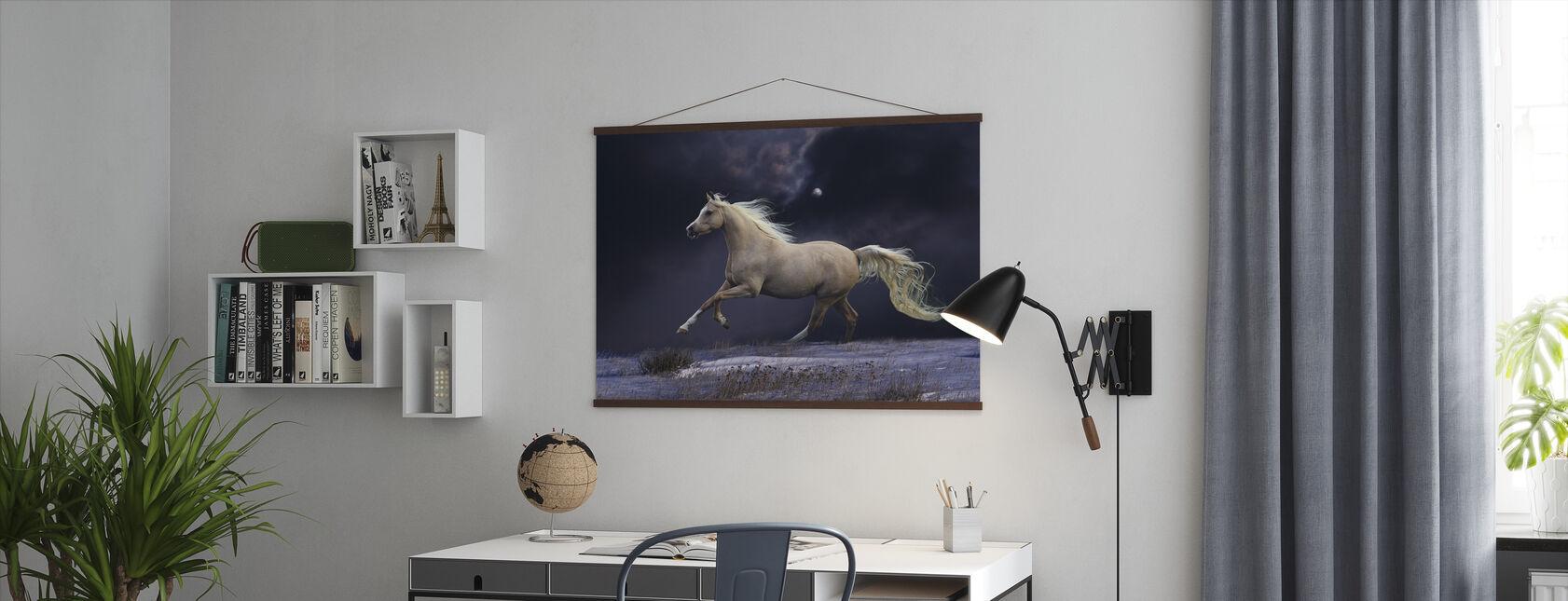 Hest i måneskinn - Plakat - Kontor