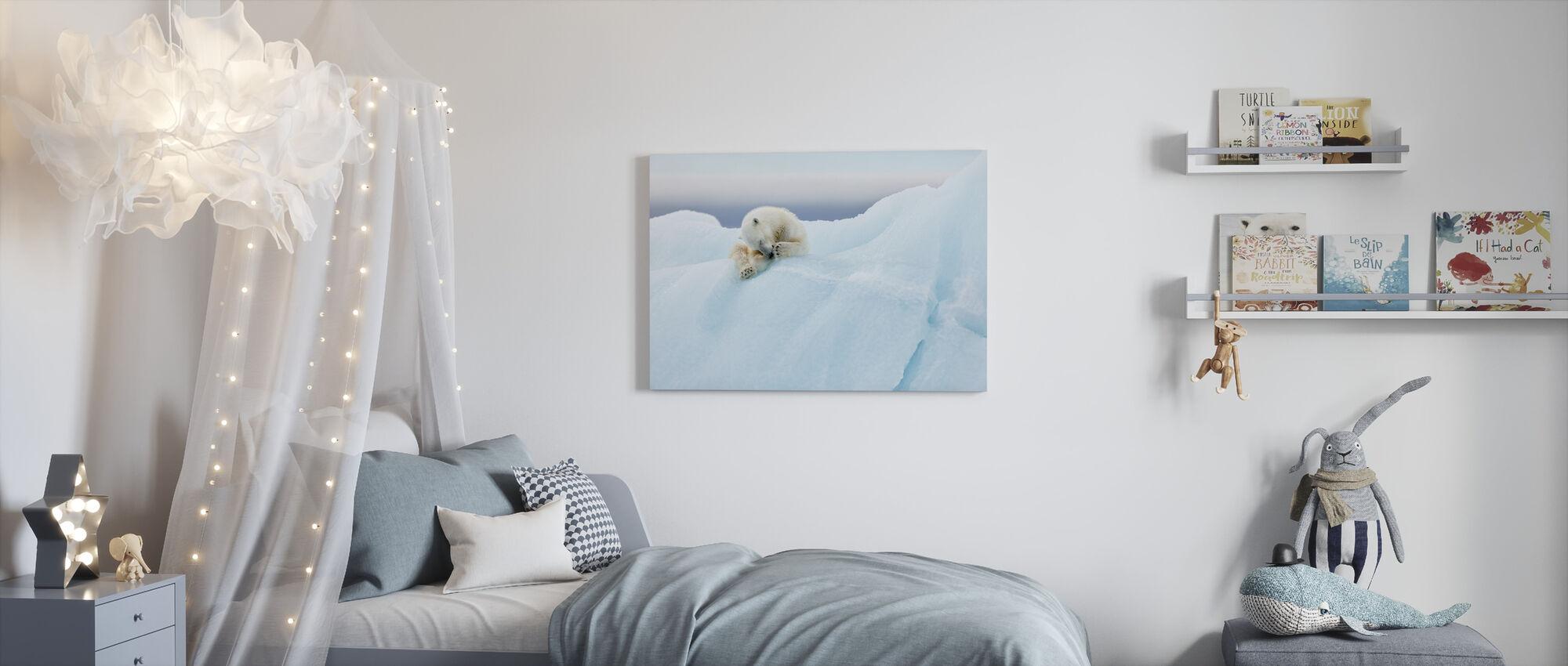 Isbjörn Grooming - Canvastavla - Barnrum