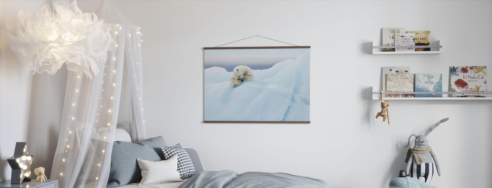 Isbjørn Grooming - Plakat - Barnerom