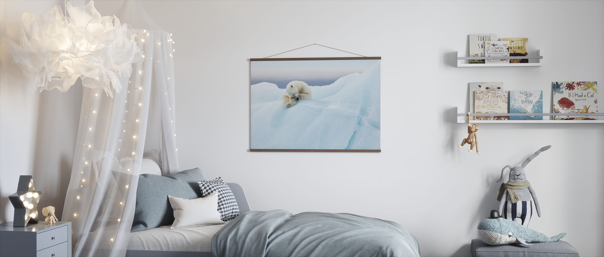 Polar Bear Grooming - Poster - Kids Room