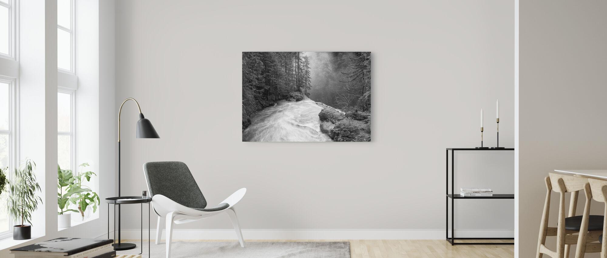 Över fallen - Canvastavla - Vardagsrum