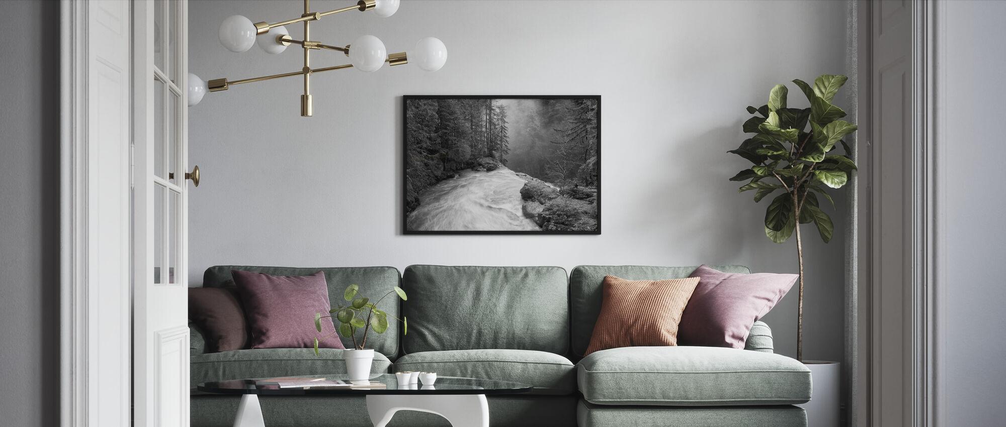 Over the Falls - Framed print - Living Room