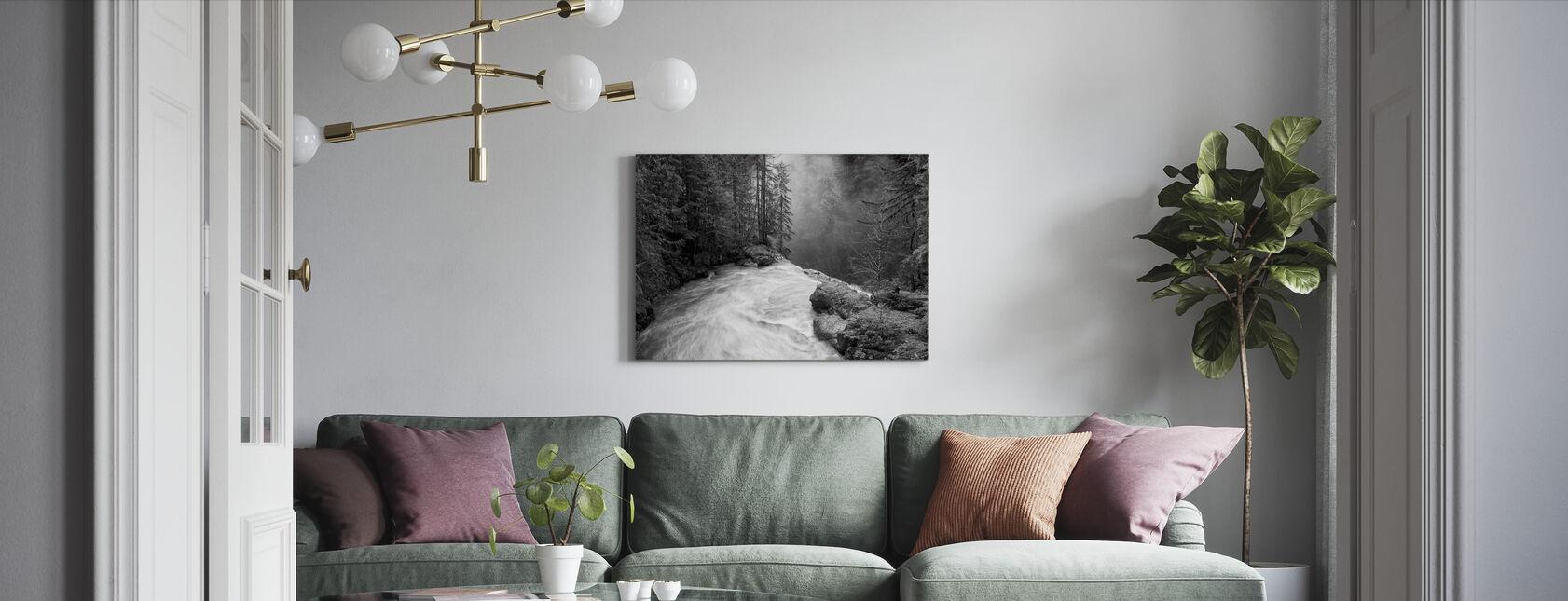 Over de watervallen - Canvas print - Woonkamer