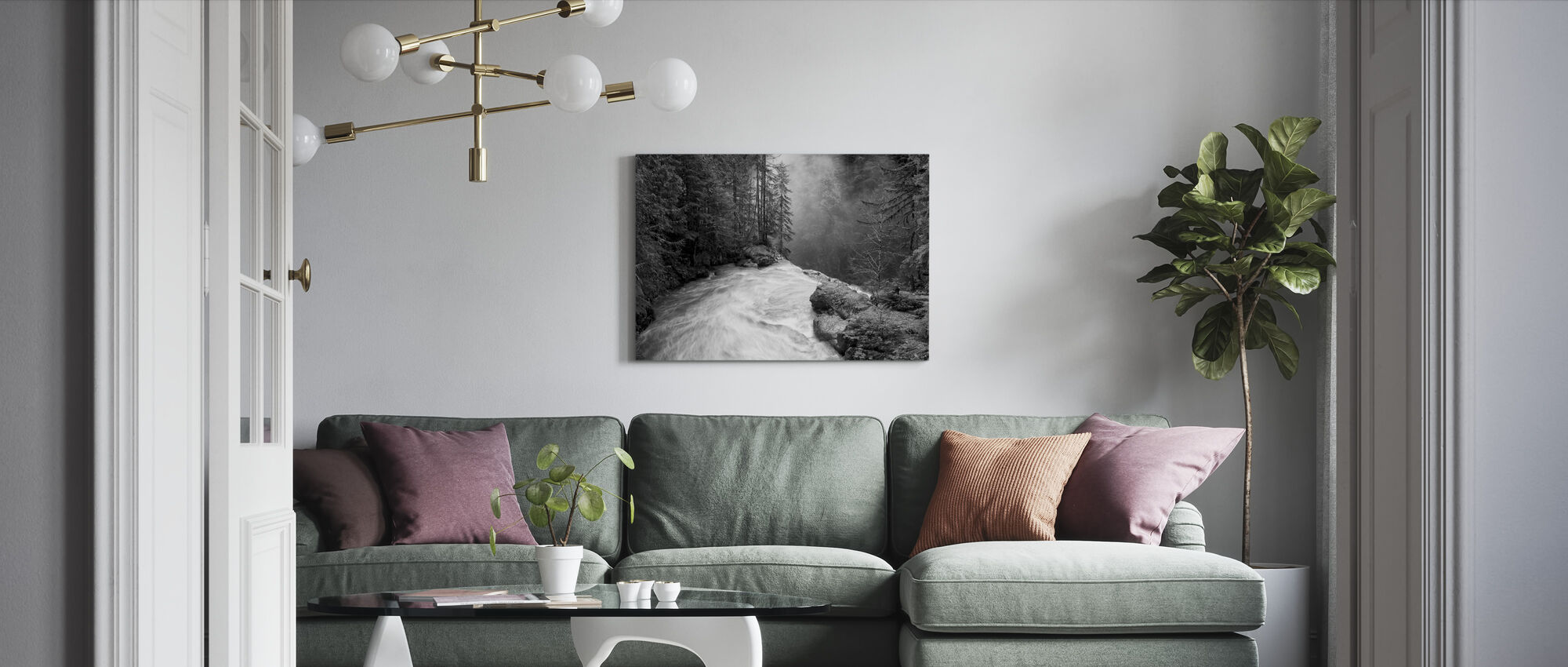 Over the Falls - Canvas print - Living Room