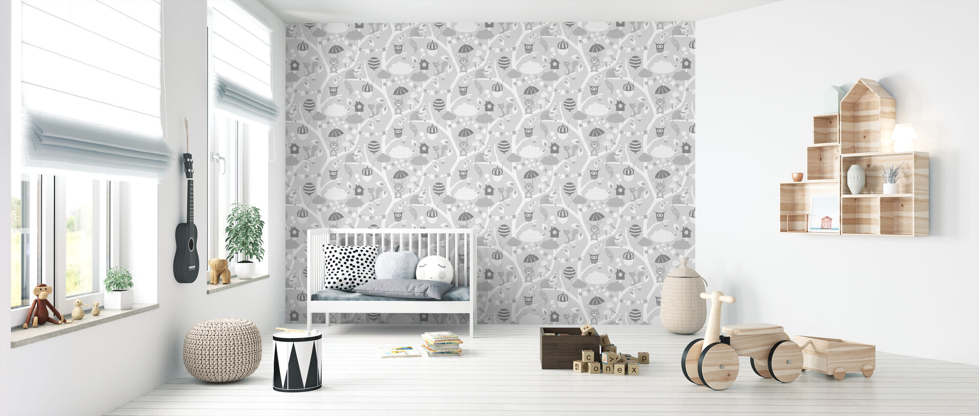 Forest Grey - Wallpaper - Nursery
