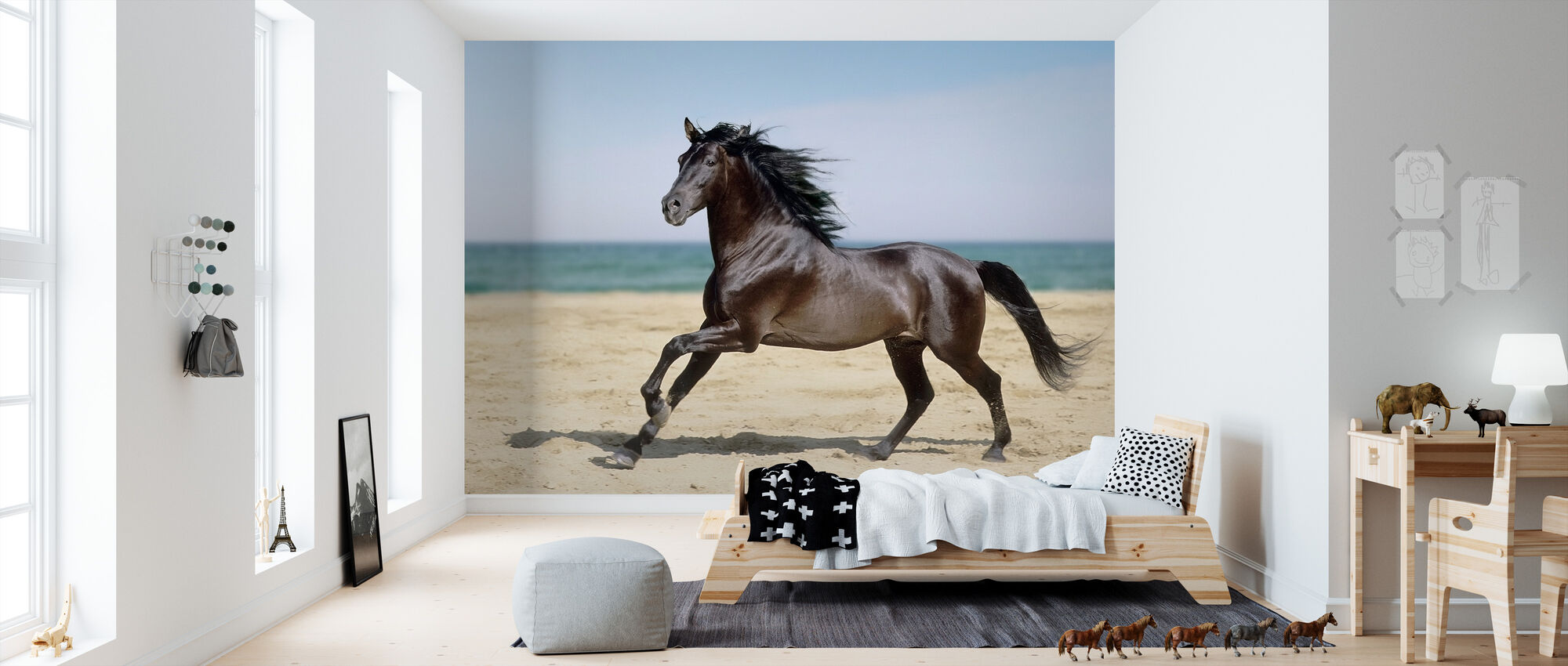 Beach Horse - Wallpaper - Kids Room