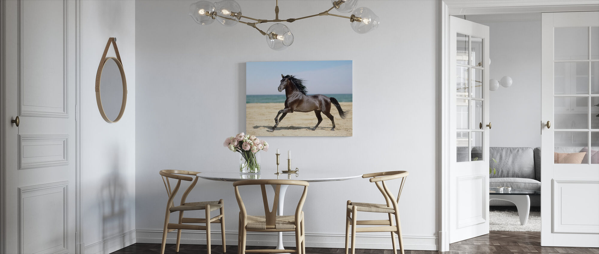 Beach Horse - Canvas print - Kitchen
