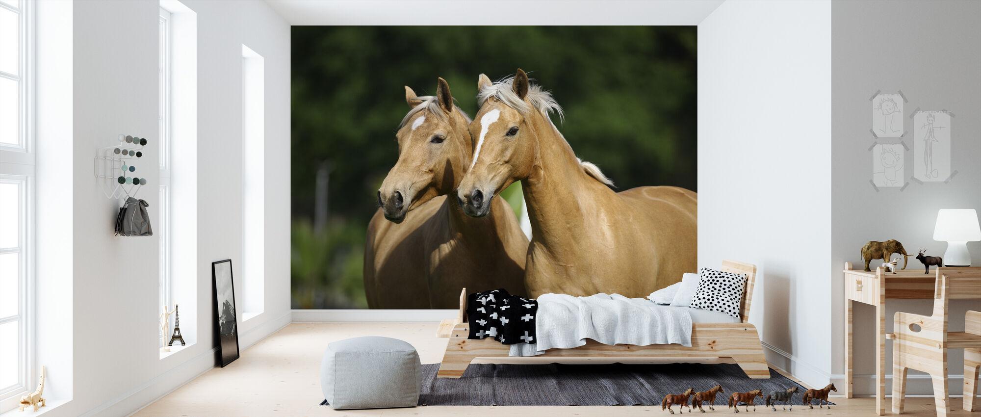 Hest Venner - Tapet - Børneværelse