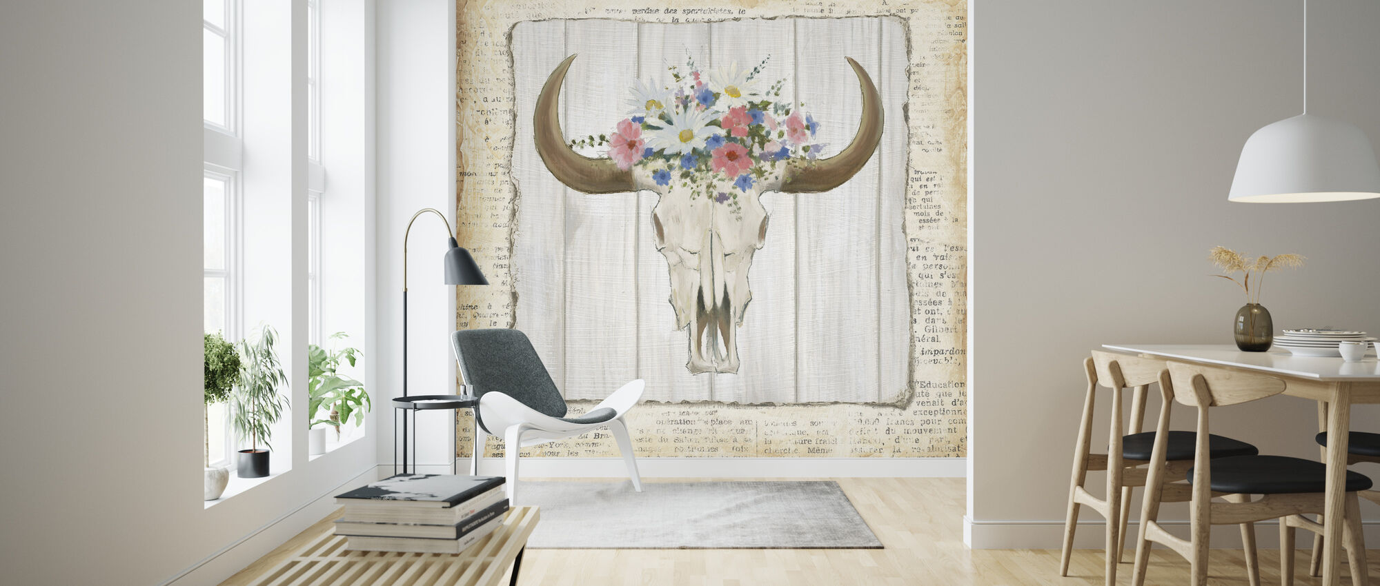 Bohemian Skull - Wallpaper - Living Room