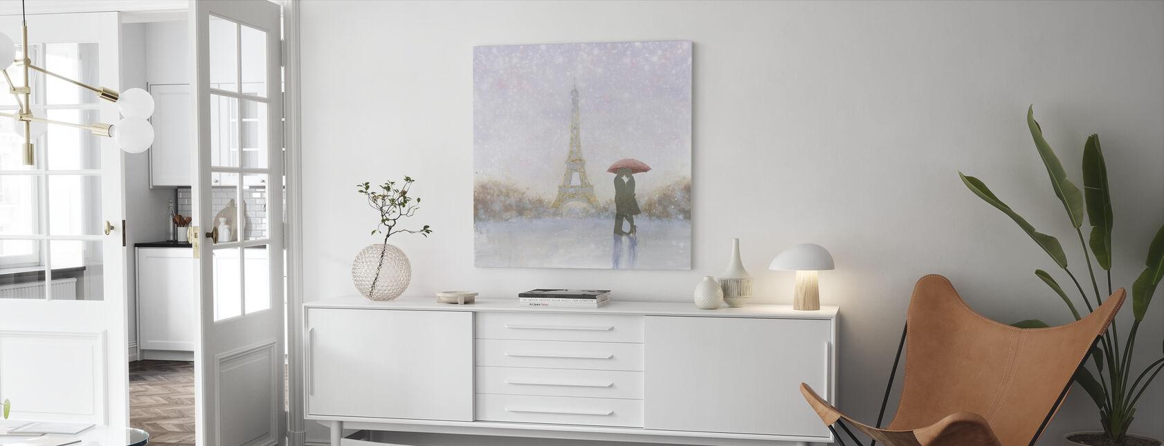 Eiffel Romance - Canvas print - Living Room