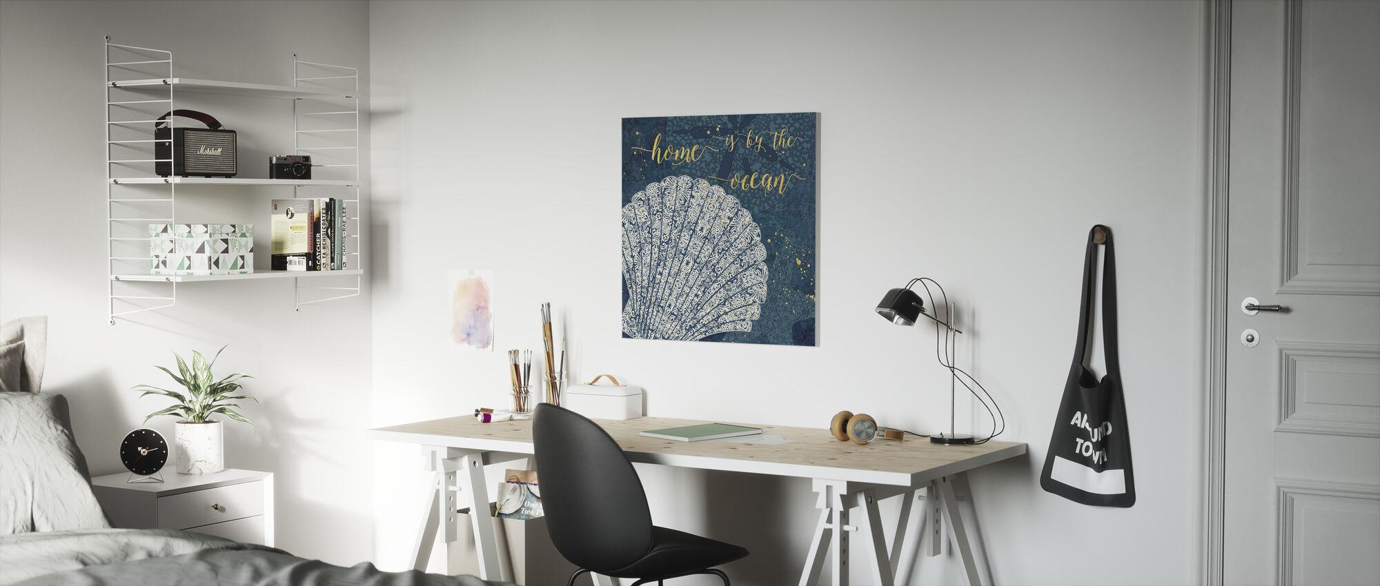 Thuis is bij de Oceaan - Canvas print - Kinderkamer
