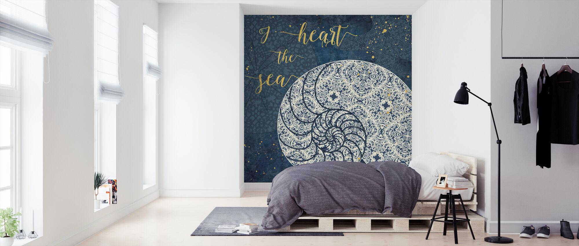 Ik Hart de Zee - Behang - Slaapkamer