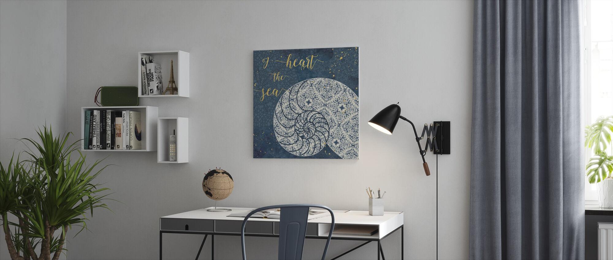 Ik Hart de Zee - Canvas print - Kantoor