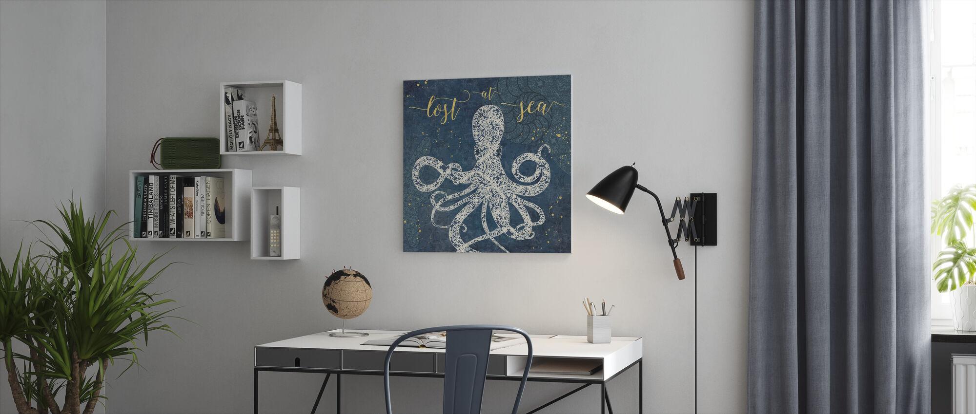 Verloren op zee - Canvas print - Kantoor