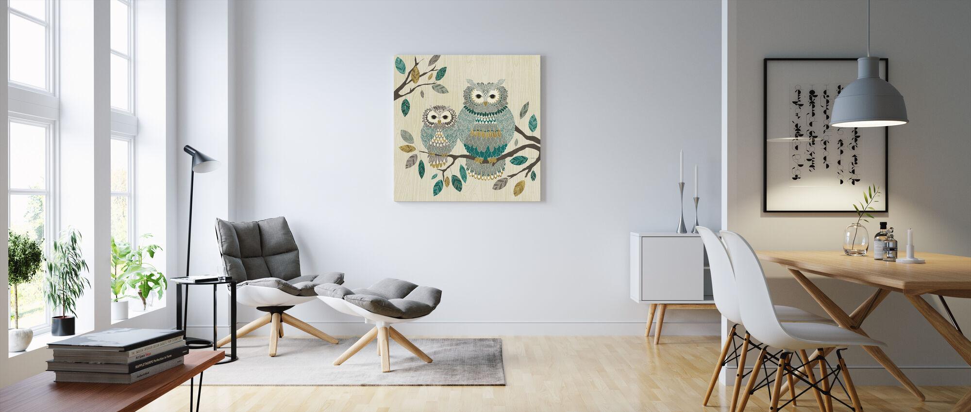 Owl Couple - Canvas print - Living Room