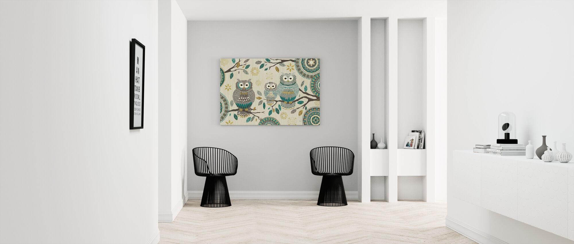 Uil Trio - Canvas print - Gang