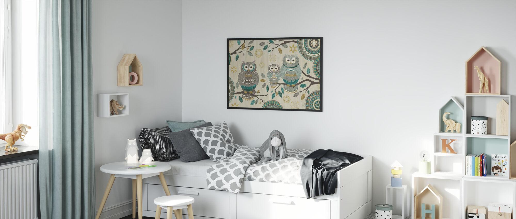 Owl Trio - Framed print - Kids Room