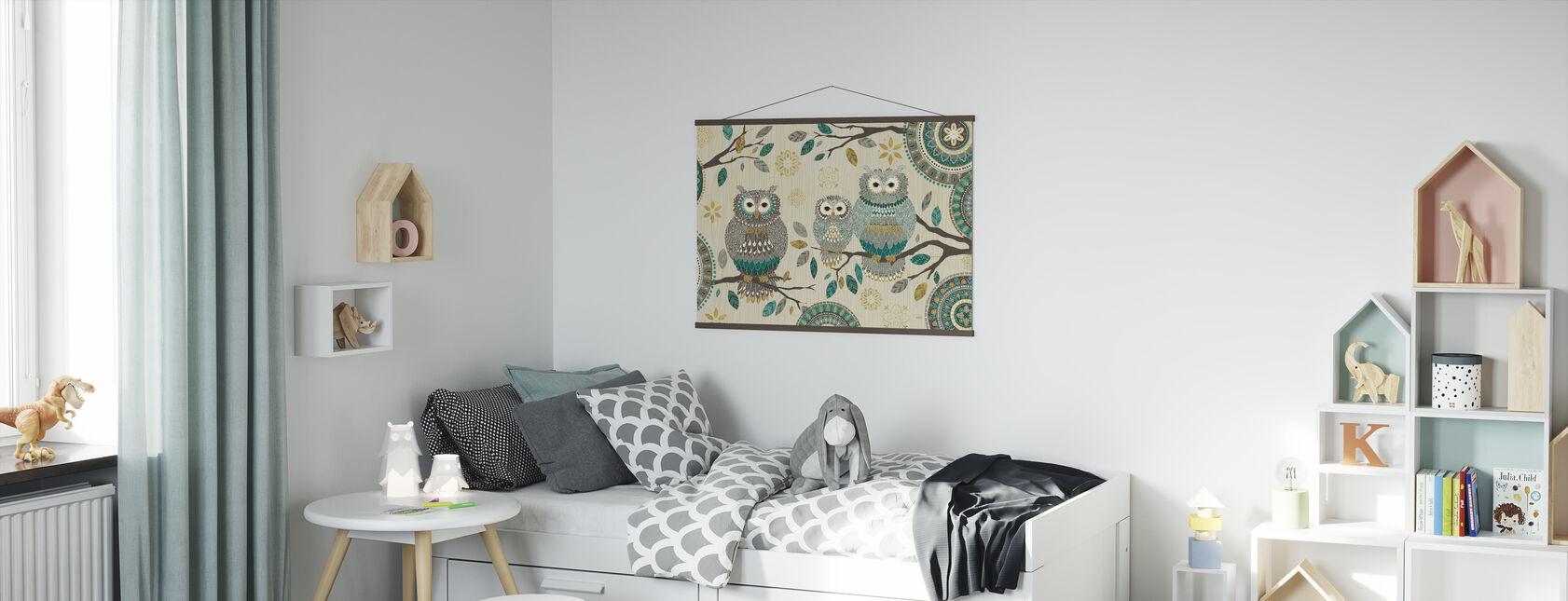 Pöllö Trio - Juliste - Lastenhuone