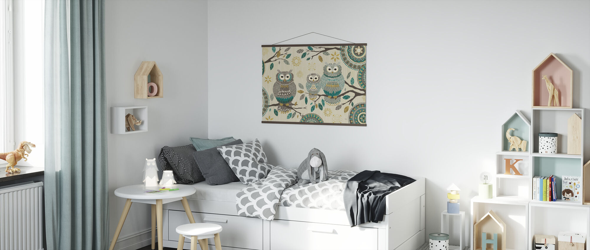 Owl Trio - Poster - Kids Room