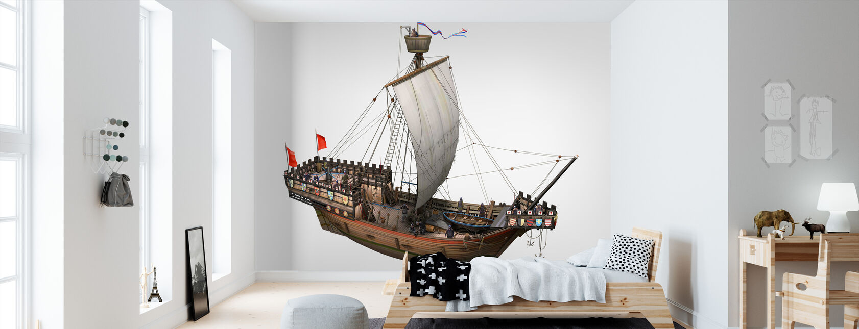 Pirate ship - Wallpaper - Kids Room