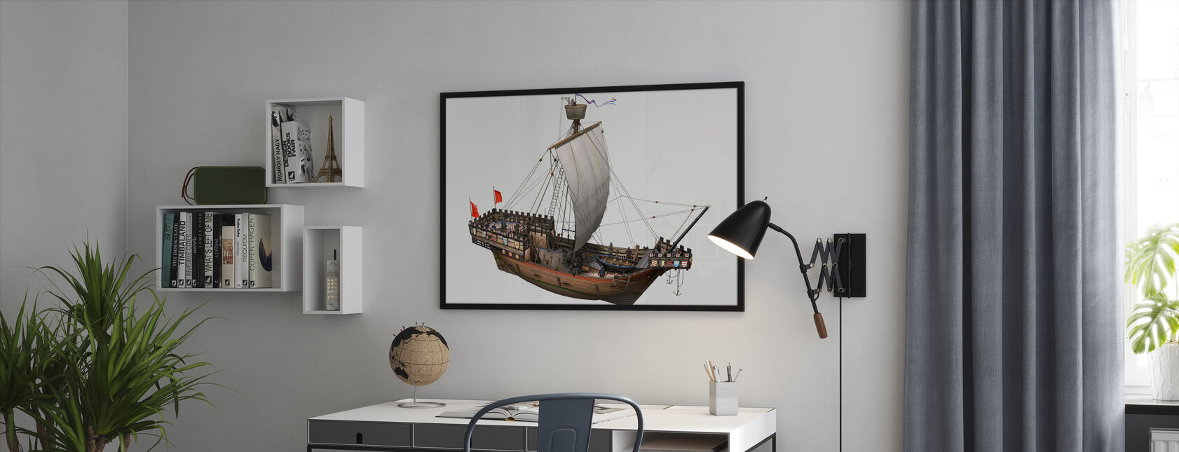 Piratskip - Innrammet bilde - Kontor