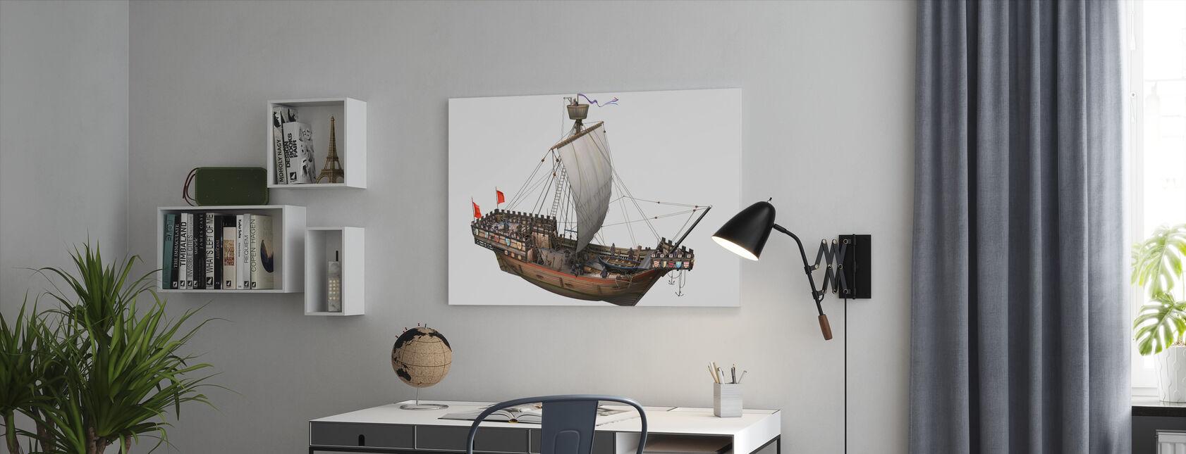 Piratenschip - Canvas print - Kantoor