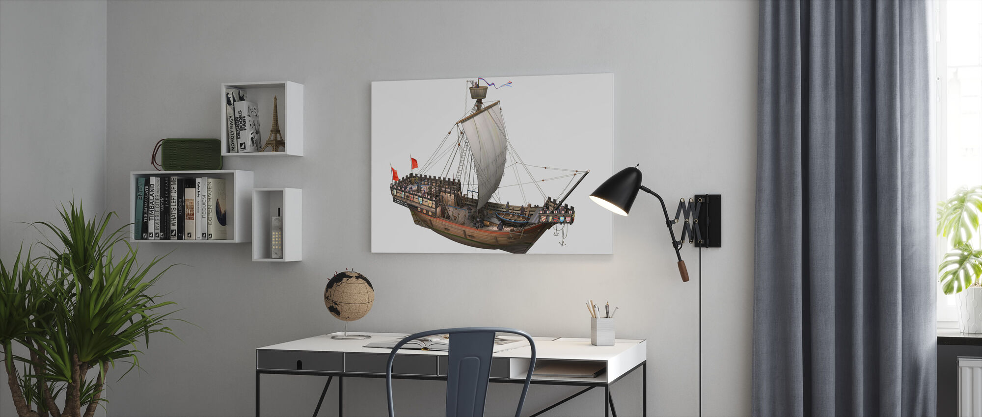 Pirate ship - Canvas print - Office