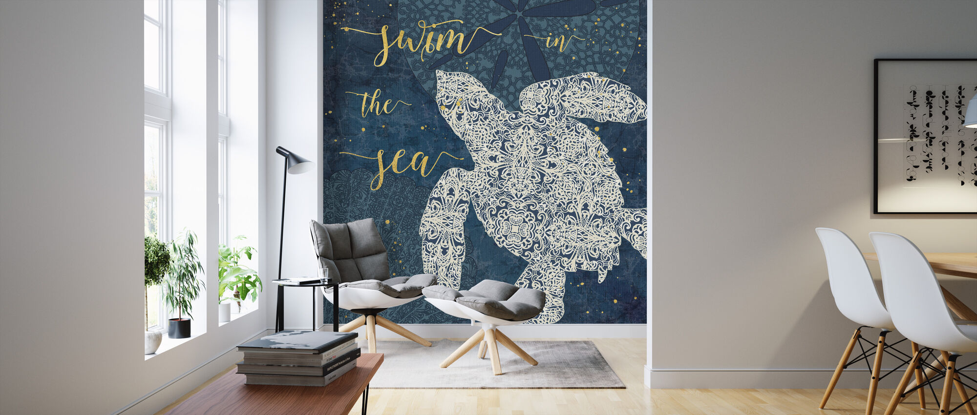 Swim in the Sea - Wallpaper - Living Room