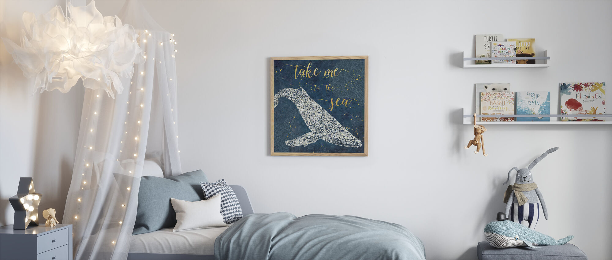 Take Me to the Sea - Framed print - Kids Room