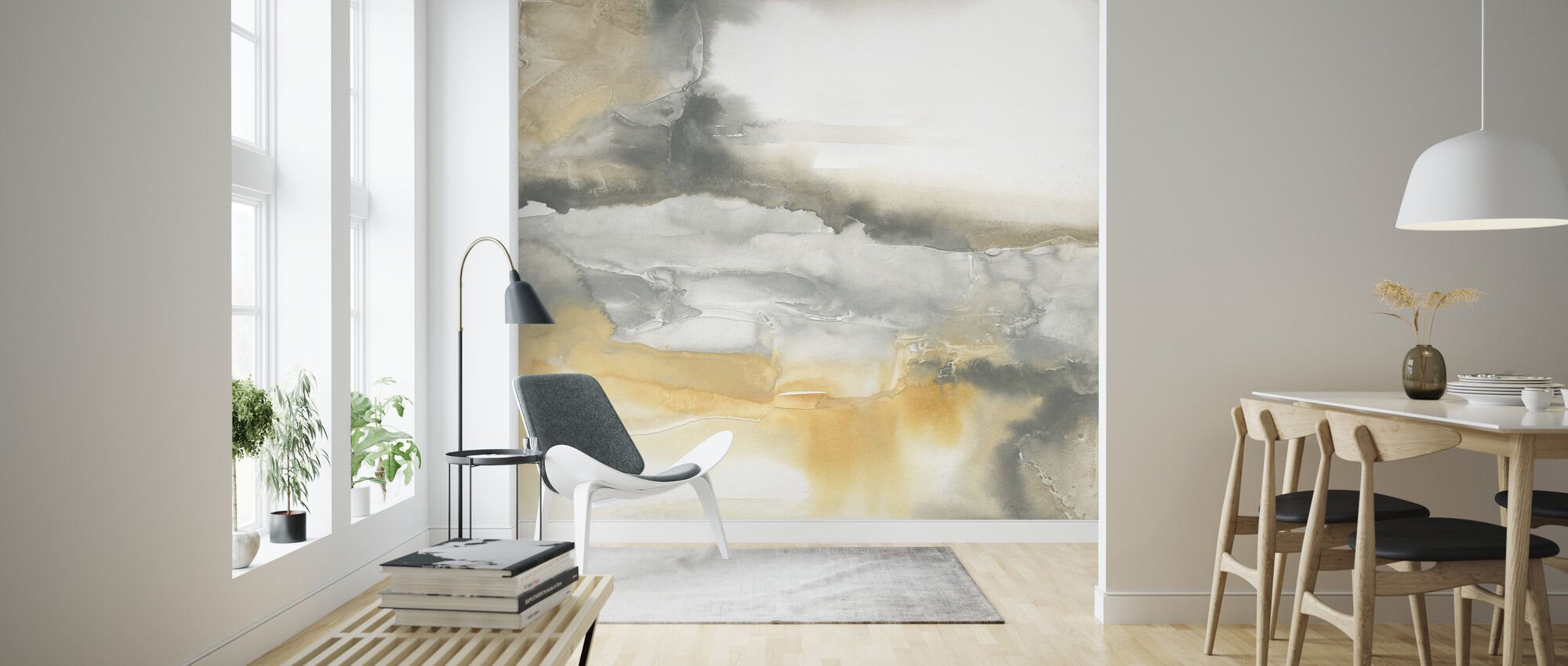Watercolor Minerals I - Wallpaper - Living Room