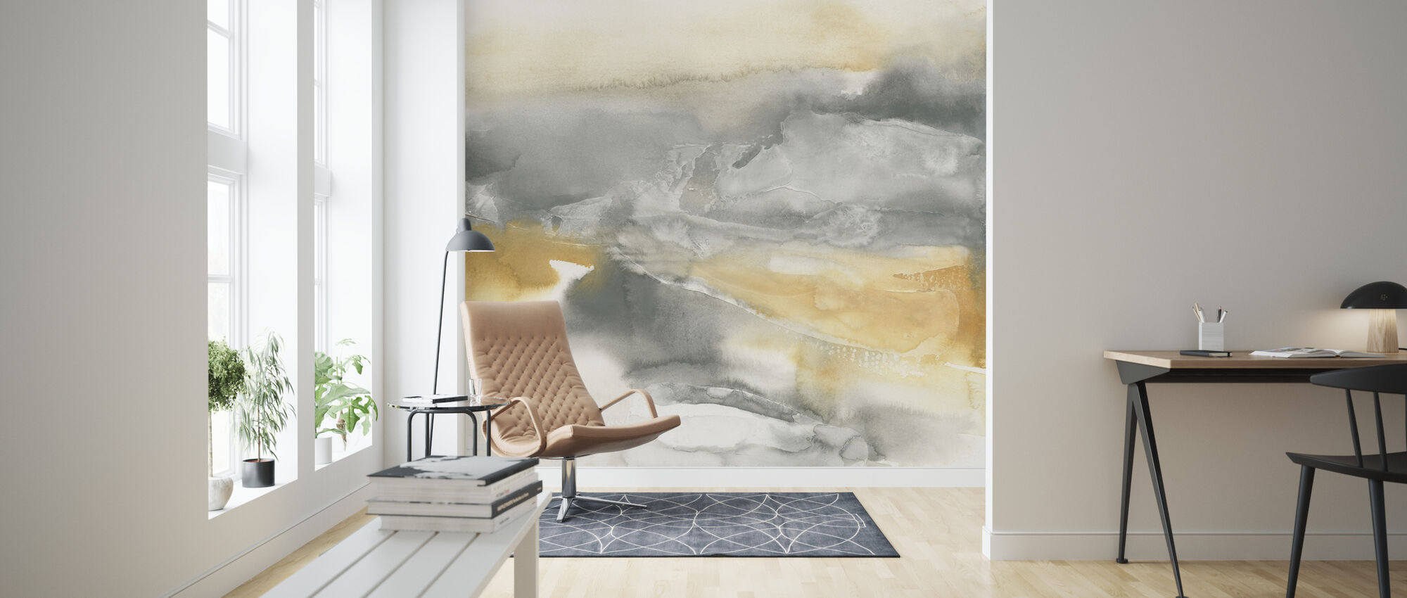 Watercolor Minerals II - Wallpaper - Living Room