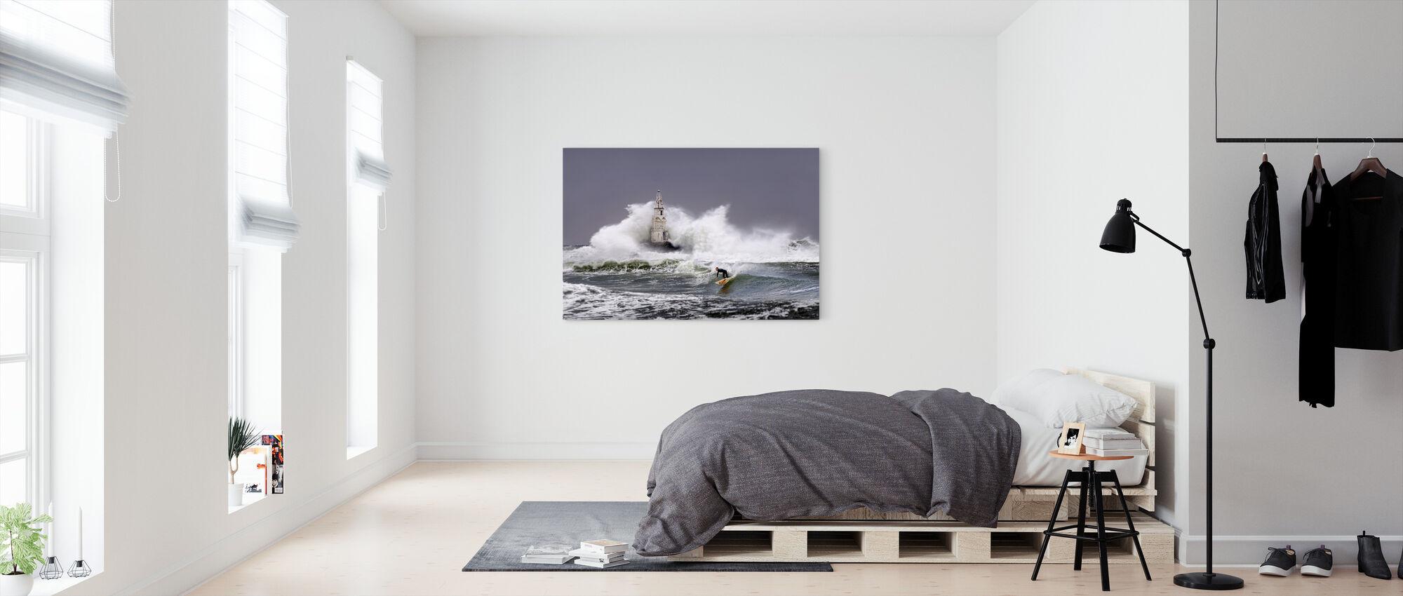 Lighthouse Surfer - Canvas print - Bedroom