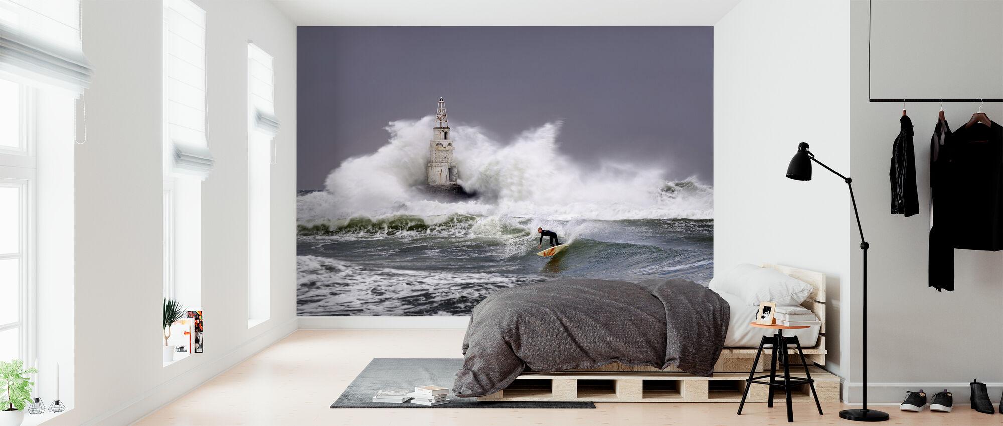 Lighthouse Surfer - Wallpaper - Bedroom