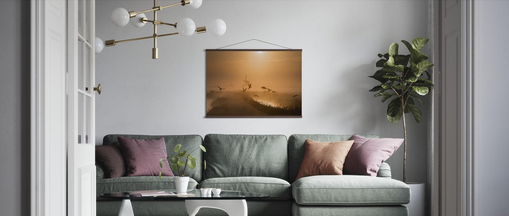 Sunrise Flight - Poster - Living Room