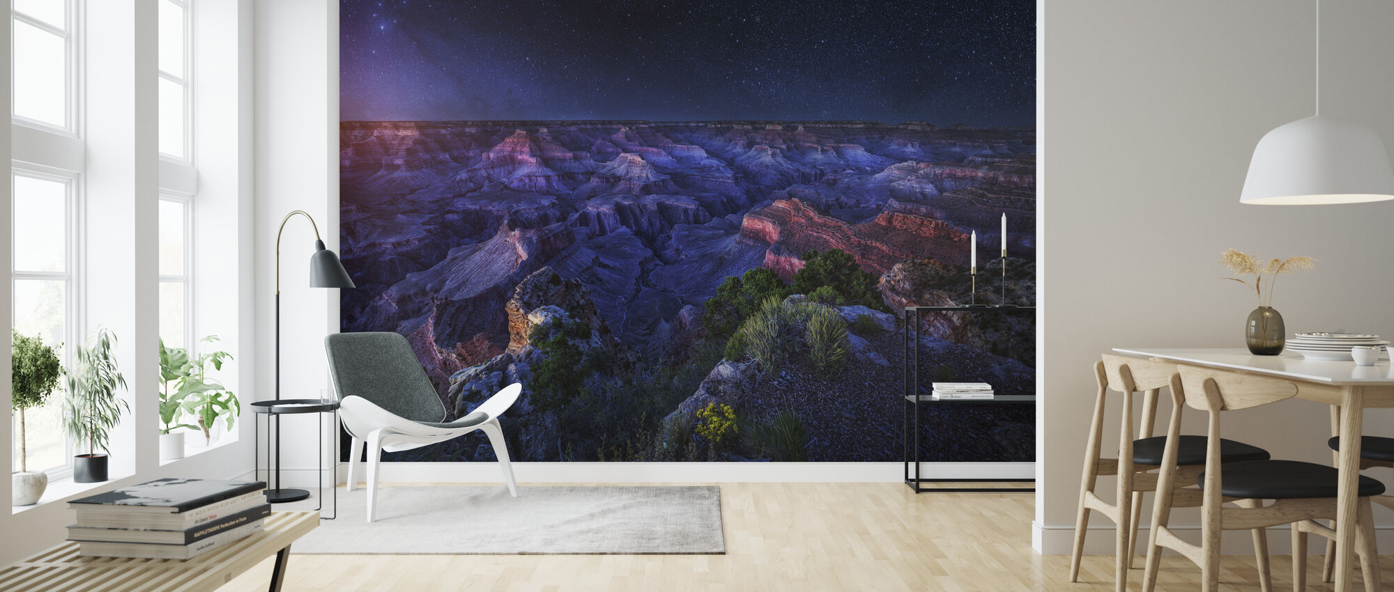Grand Canyon natt - Tapet - Stue