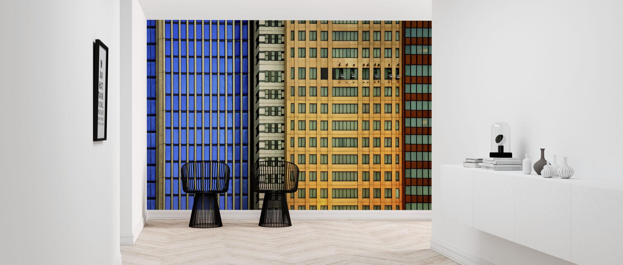 Fenêtres sur la ville - Papier peint - Entrée