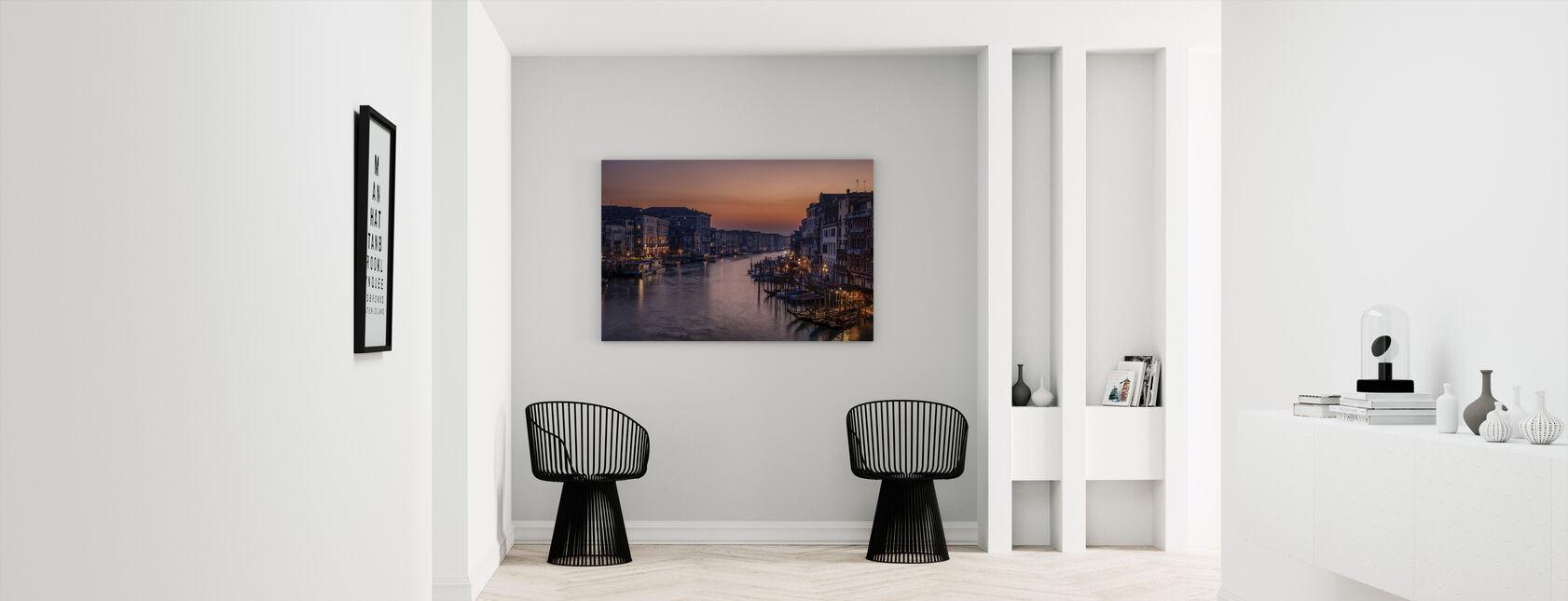 Venice Grand Canal vid Sunset - Canvastavla - Hall
