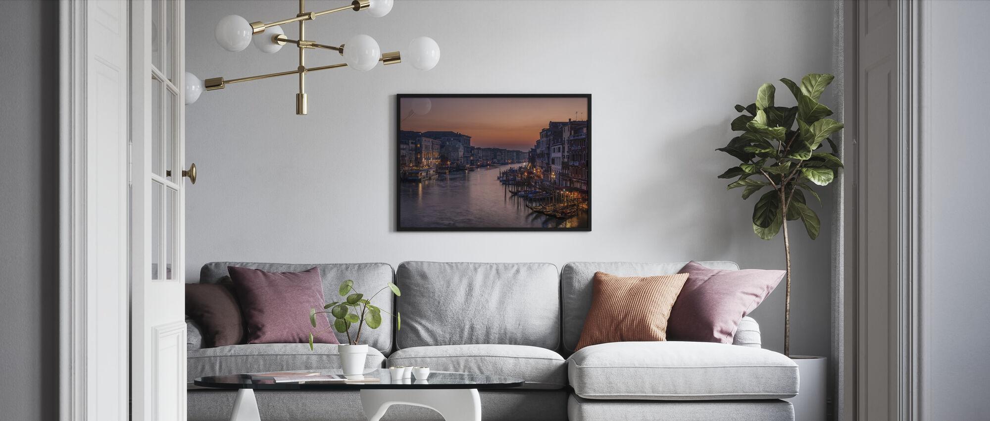 Venedig Grand Canal ved Sunset - Innrammet bilde - Stue