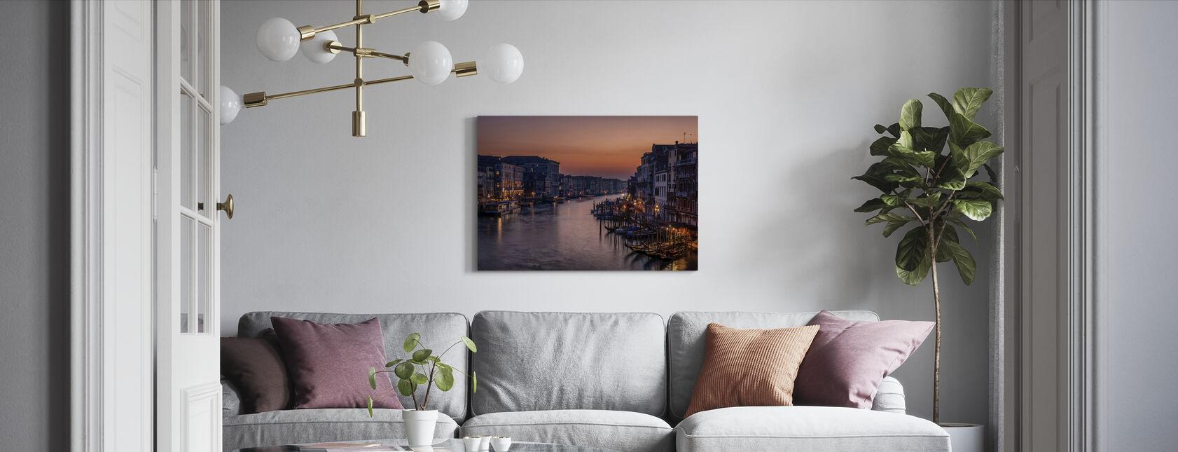 Venice Grand Canal vid Sunset - Canvastavla - Vardagsrum