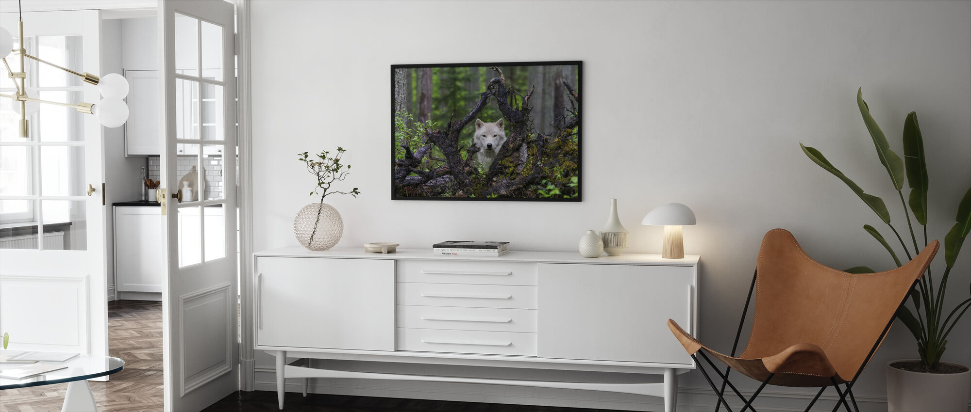 Wolf - Framed print - Living Room