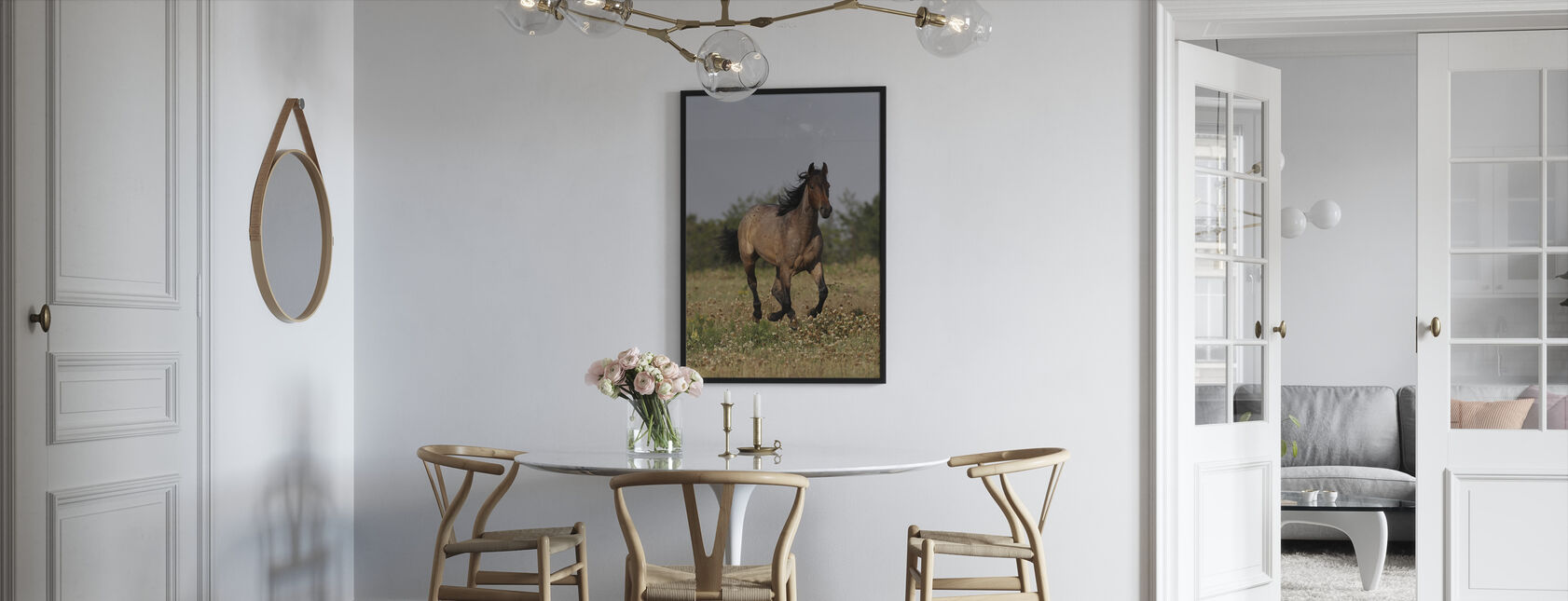 Quarter Horse on Meadow - Framed print - Kitchen