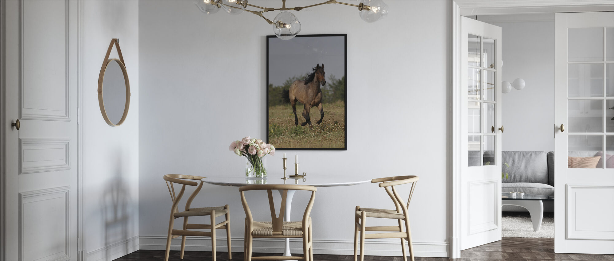 Quarter Horse on Meadow - Framed print - Kitchen