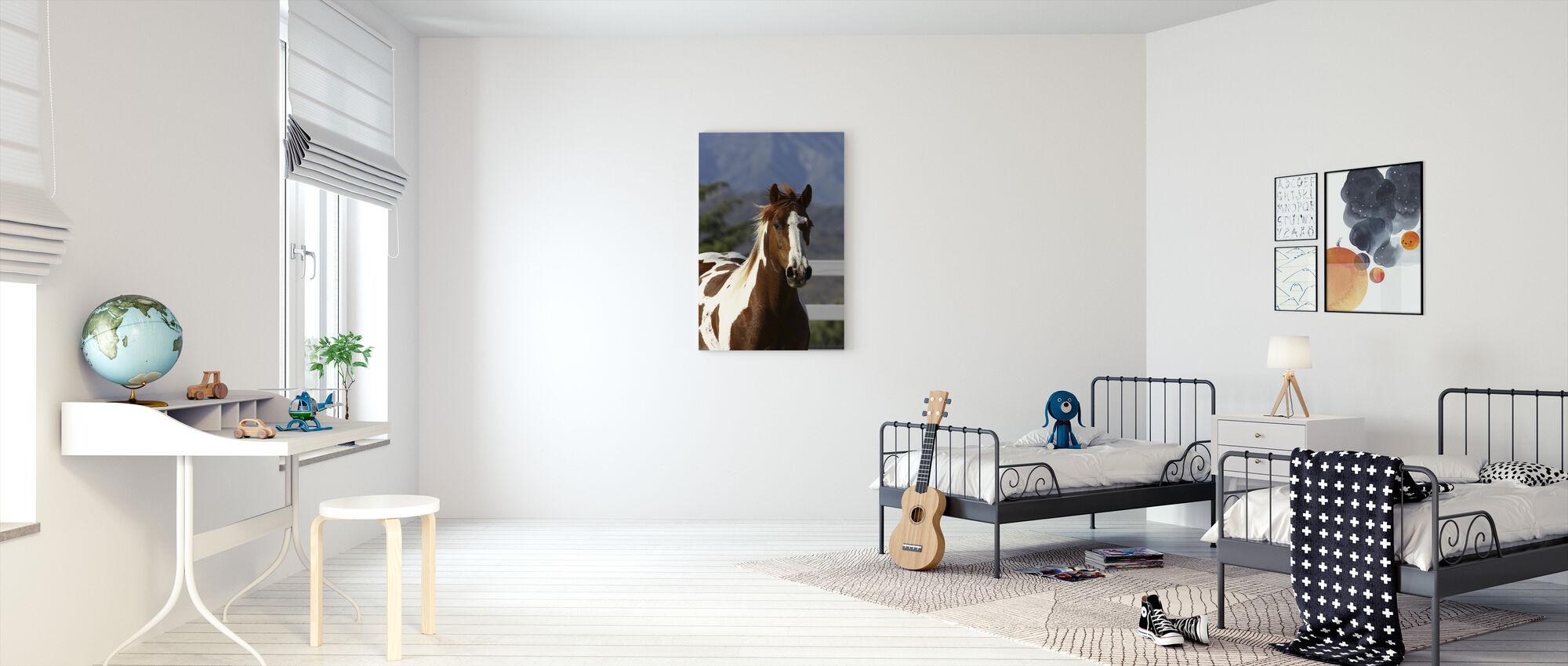 Quarter Horse Close Up I - Canvas print - Kids Room