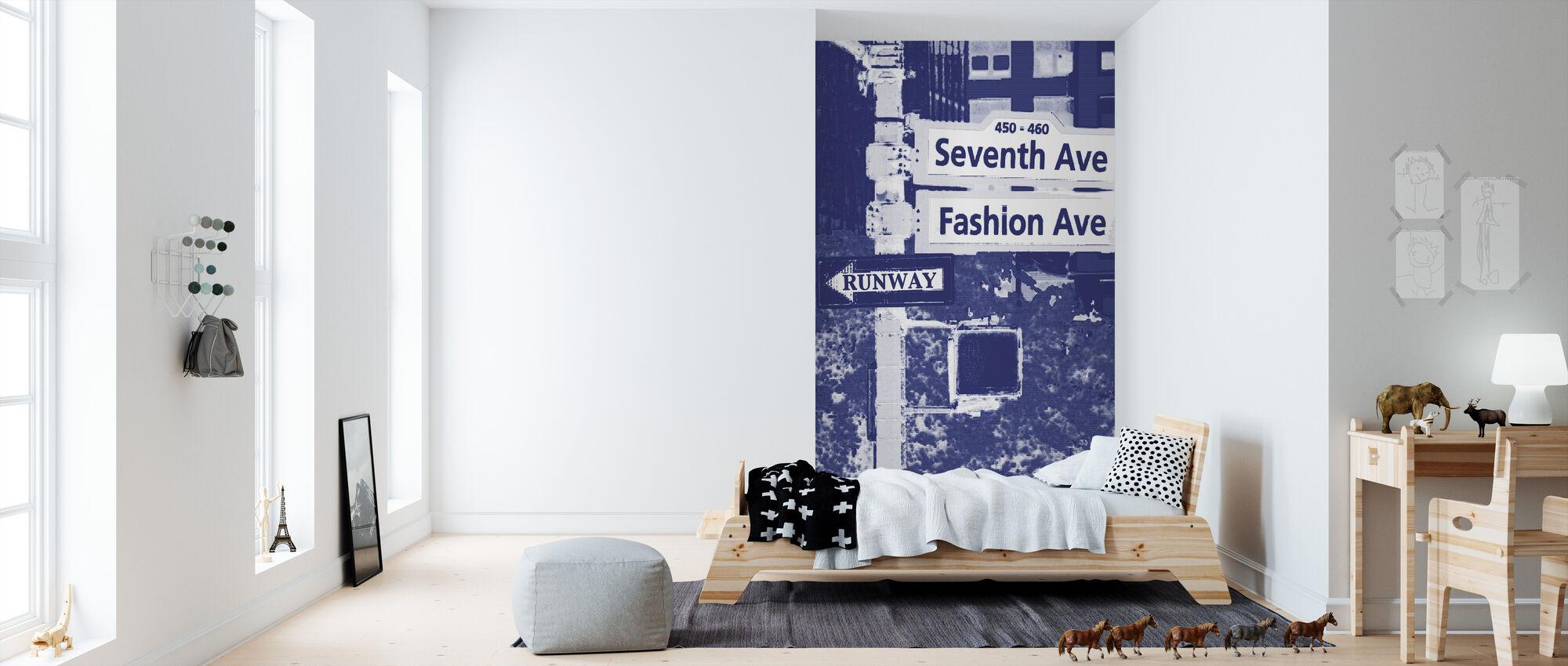 Fashion Ave - Behang - Kinderkamer