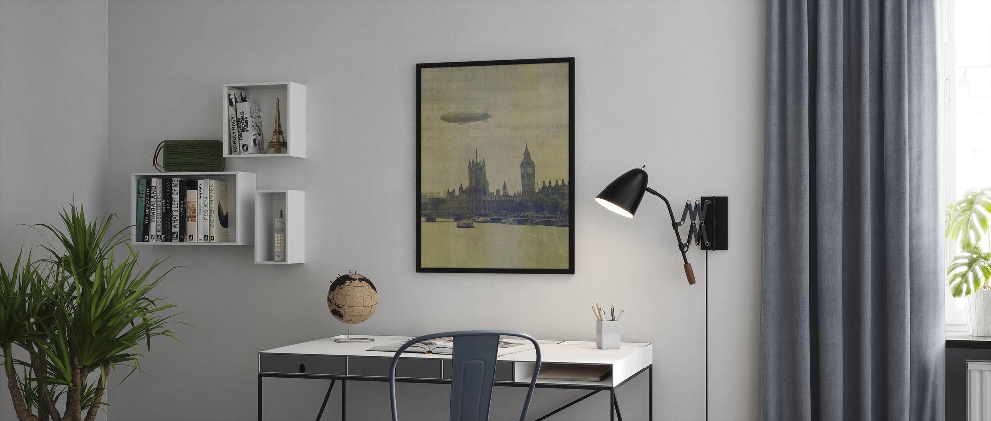 Travel Aviation l - Framed print - Office