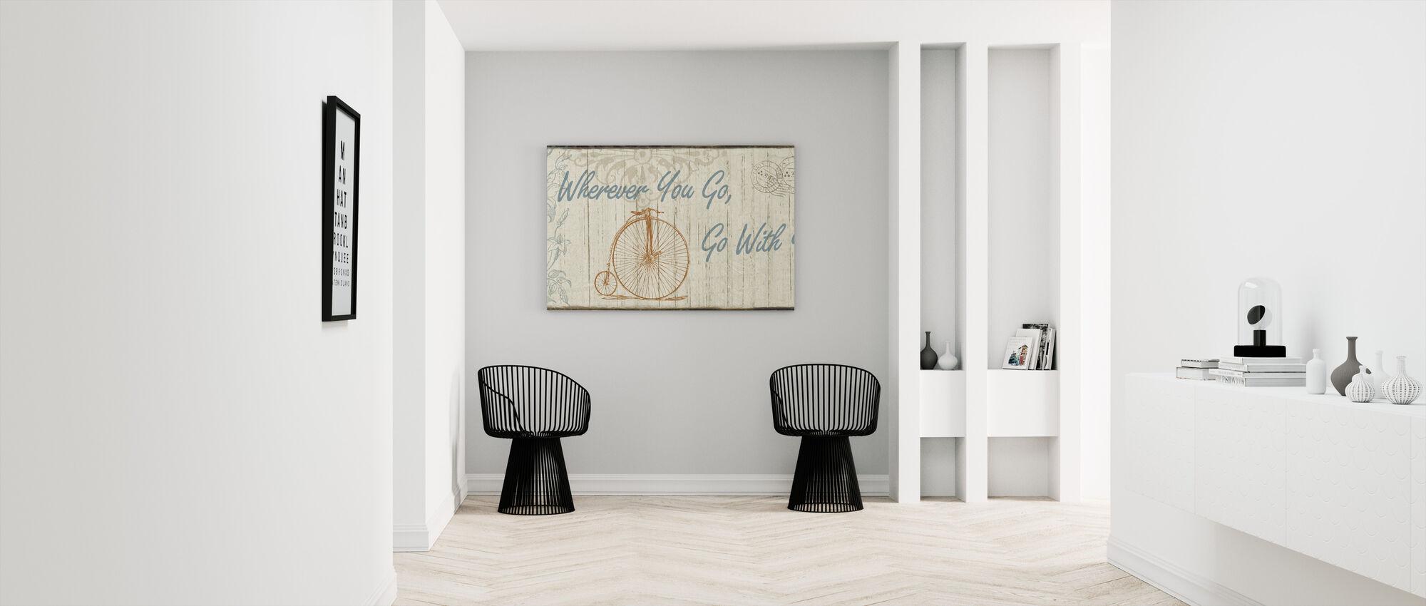 Go With Your Heart - Canvas print - Hallway