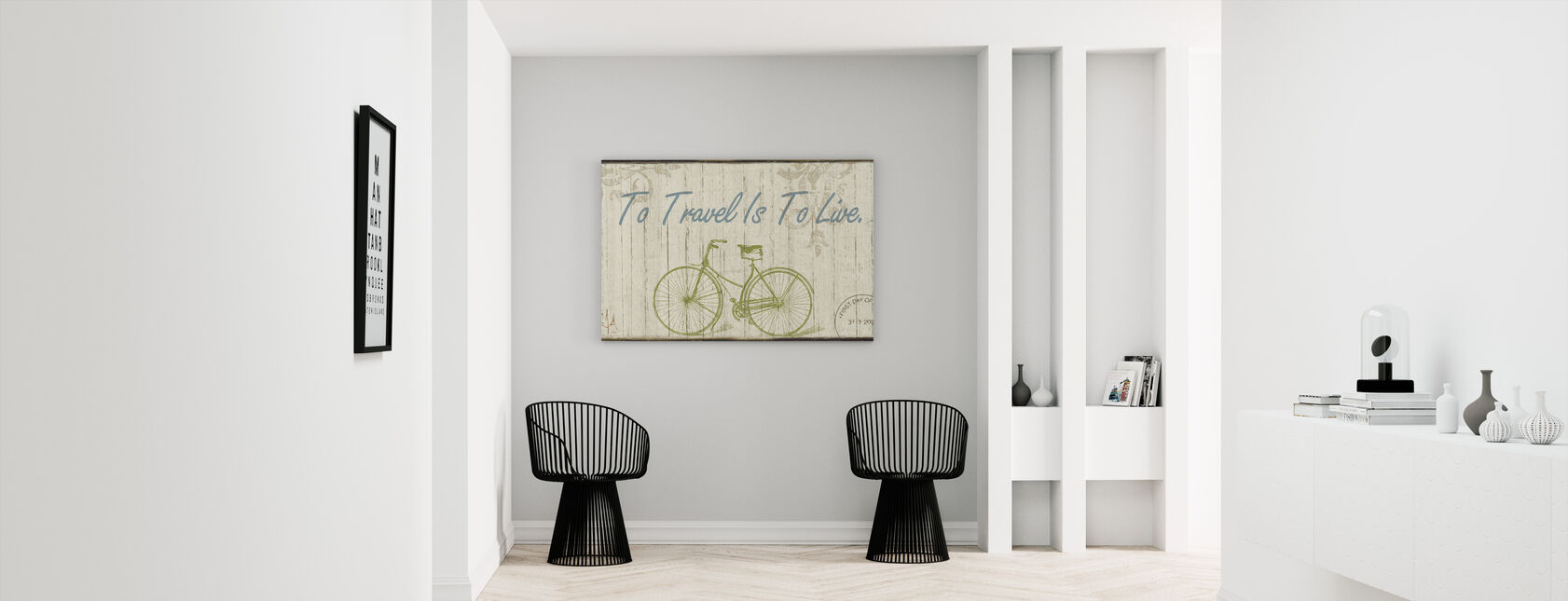 Reizen is om te leven - Canvas print - Gang