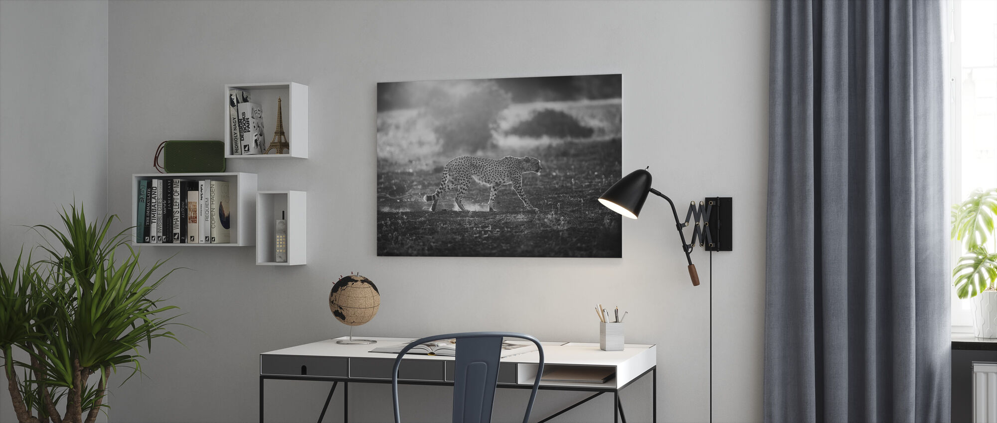 Backlit Cheetah - Canvas print - Office