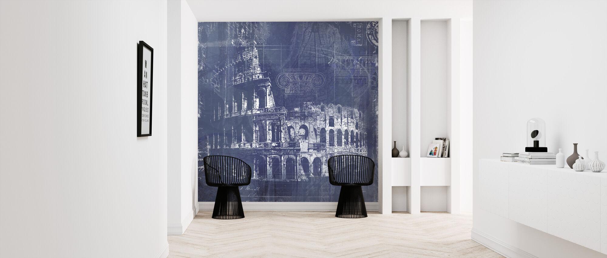 Rome Blueprint - Wallpaper - Hallway